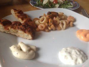 Meeresfrüchte auf dem Plancha Grill